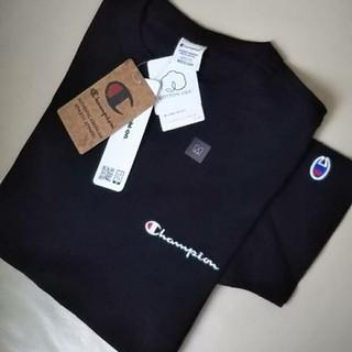Champion - 【新品】 Champion 刺繍ロゴ Tシャツ/チャンピオン/ブラック/M