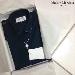 マルタンマルジェラ(Maison Martin Margiela)の新品■紺■40■マルジェラ 17aw■ドレス シャツ■長袖■ネイビー■5572(シャツ)