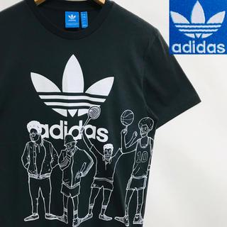 アディダス(adidas)の美品!adidas トレフォイルロゴ  チームアディダス 両面プリントTシャツ(Tシャツ/カットソー(半袖/袖なし))