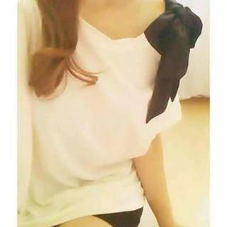 DaTuRa - DaTuRa 肩リボンTシャツ