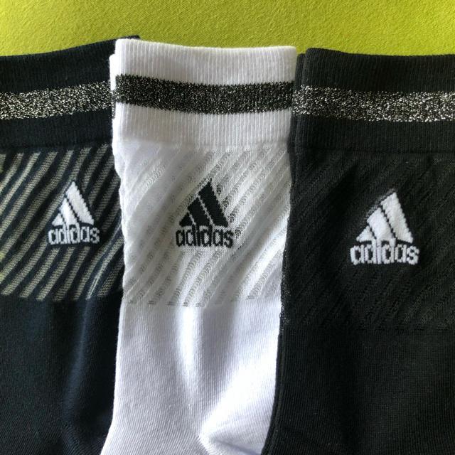 adidas(アディダス)の【アディダス】NEW‼️シースルー サポート入り靴下3足セット(モノトーン)  レディースのレッグウェア(ソックス)の商品写真