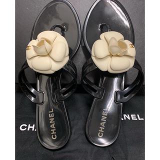 シャネル(CHANEL)のlienaliena様専用❤️美品❤️シャネル カメリア サンダル 39(サンダル)