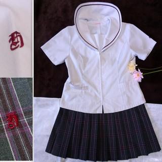 《中古制服》常総学院高校 夏季用上下 セーラーブラウス&夏スカート 2点セット