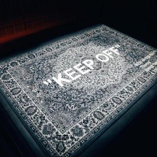 """イケア(IKEA)のIKEA VIRGIL ABLOH """"KEEP OFF""""ラグマット(ラグ)"""