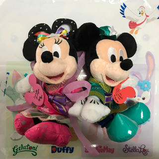 Disney - ミッキー ミニー ぬいぐるみ セット たなばた