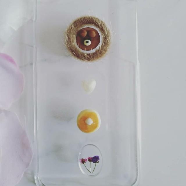 グッチ アイフォーンxr ケース 財布型 | iPhoneケース ハンドメイド クマちゃんとアリッサムの押し花の通販 by RSI's shop|ラクマ