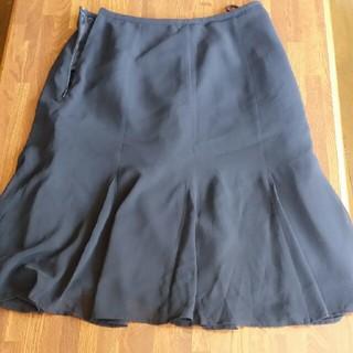 ベルメゾン(ベルメゾン)のベルメゾン ひざ丈 夏スカート 黒61㎝(ひざ丈スカート)