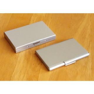 ムジルシリョウヒン(MUJI (無印良品))のカードケース 無印良品 ステンレス製とアルミ製 2種類セット(名刺入れ/定期入れ)