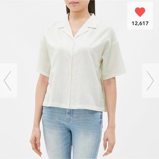 gu ジーユー リネン シャツ ホワイト 白