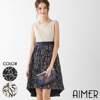 45ce66b87e2aa エメ(AIMER)の美品 Aimer テープフラワー刺繍ドレス グレースコンチネンタル フォクシー(