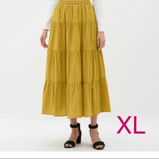 ジーユー(GU)のユニクロ GU ティアード フレア ロング スカート(ロングスカート)