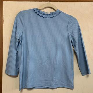 ジーユー(GU)の《流行》GU リブTシャツ 水色 インスタ映え(Tシャツ(長袖/七分))