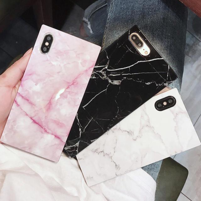 iphone 8 ケース エクストララージ | 大人気♡大理石 マーブル スクエア iPhone アイフォン カバー ケースの通販 by ギュッチr's shop|ラクマ