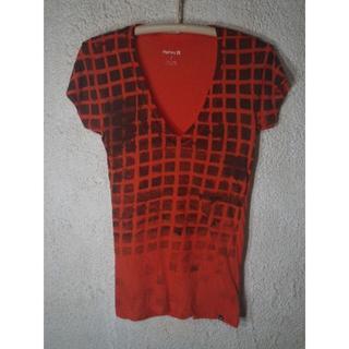 ハーレー(Hurley)の3889 Hurley 半袖 Vネック ブロック プリント tシャツ S(サーフィン)