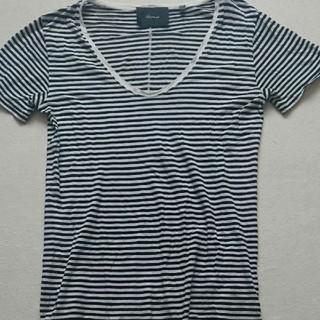 セクスプリメ(S'exprimer)のsexprimer セクスプリメ Uネック ボーダーTシャツ(Tシャツ/カットソー(半袖/袖なし))