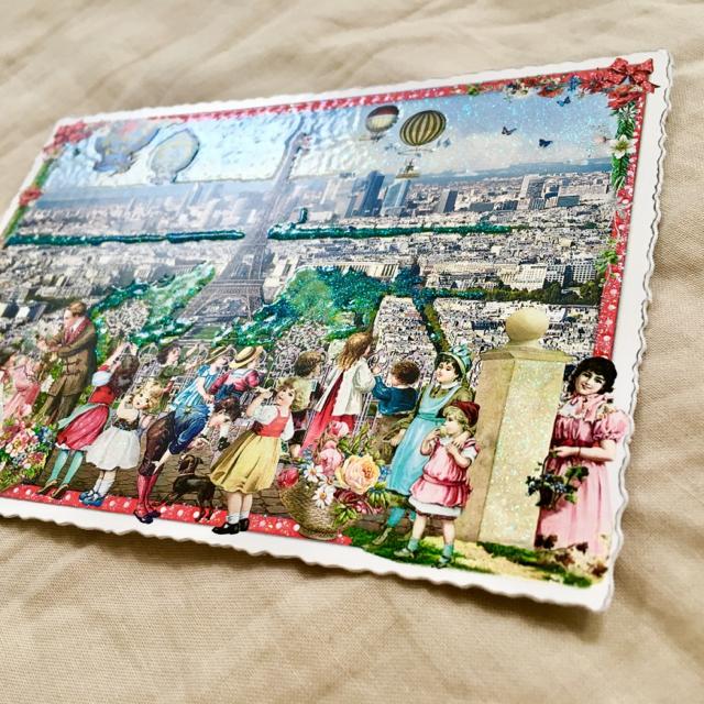H.P.FRANCE(アッシュペーフランス)のフランス パリ 名所 キラキラ ポストカード ♡ エッフェル塔 エンタメ/ホビーのコレクション(切手/官製はがき)の商品写真
