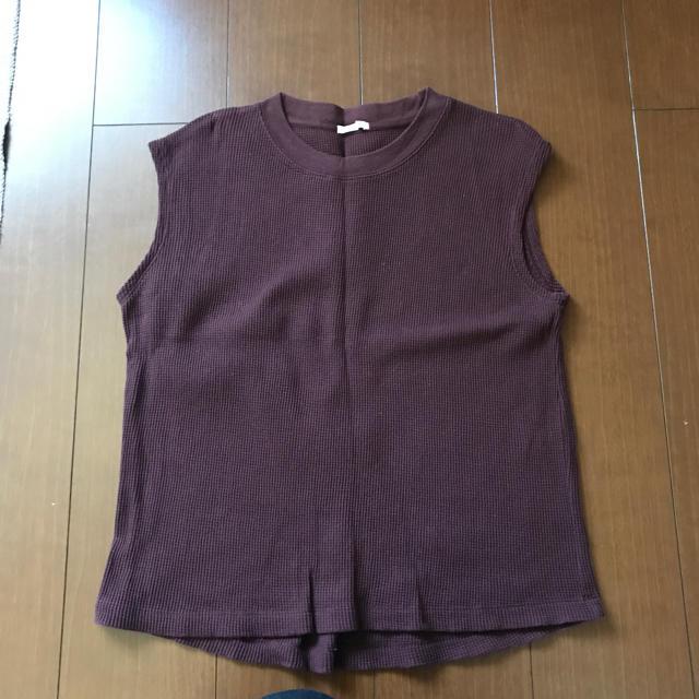 GU(ジーユー)のGUワッフルタンクTシャツ レディースのトップス(Tシャツ(半袖/袖なし))の商品写真