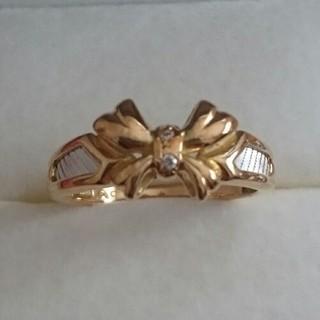 プラチナ、K18リボンのリング(リング(指輪))