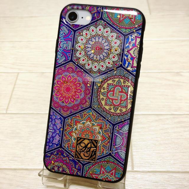 iphone 8 ケース 割れない | カラフル 民族 iPhone7/8 ケース 綺麗 金箔の通販 by noropochan's shop|ラクマ