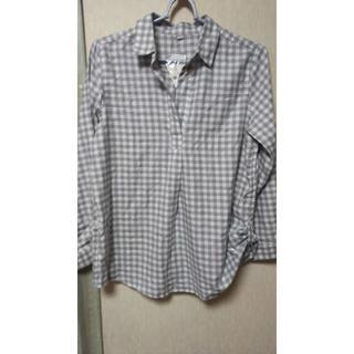 チェックシャツ グレータグ付き(シャツ/ブラウス(長袖/七分))