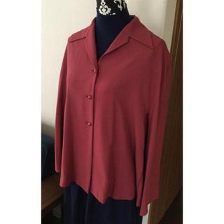 シビラ(Sybilla)のシビラSybillaローズ色(スモーキーピンク)の素敵なウールジャケット中古良品(テーラードジャケット)