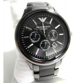 エンポリオアルマーニ(Emporio Armani)のエンポリオアルマーニ★メンズ腕時計セラミカ★AR1451ガンメタ(腕時計(アナログ))