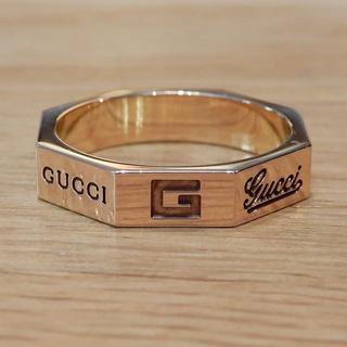 グッチ(Gucci)の超美品 グッチ 8リング K18PG アクセサリー 指輪 オクタグナルリング(リング(指輪))