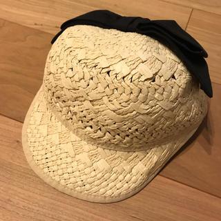 プティマイン(petit main)のプティマイン リボンつきペーパーキャップ 50センチ(帽子)