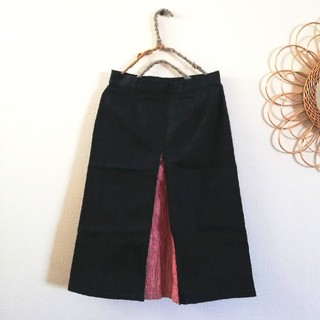 ルミノア(Le Minor)のルミノア ジーンズ地台形スカート(ロングスカート)