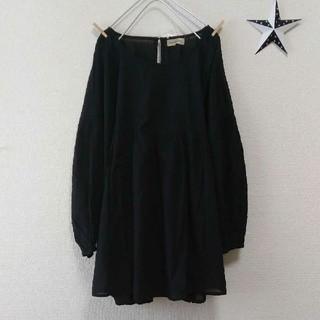 SM2 - 《SM2》袖刺繍フレアチュニック♡黒