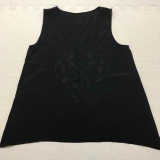 ジーユー(GU)のGU ブラウス 黒 刺繍 ブラック  (シャツ/ブラウス(半袖/袖なし))