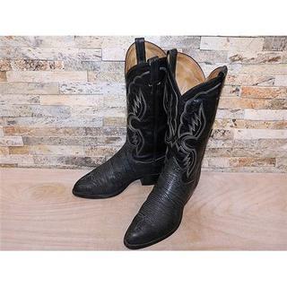 トニーラマ(Tony Lama)のトニーラマ TonyLama ブルハイド革 ウエスタンブーツ 黒 27cm(ブーツ)