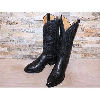 トニーラマ(Tony Lama)の最高級品 美品 トニーラマ TonyLama ウエスタンブーツ 黒 27cm(ブーツ)