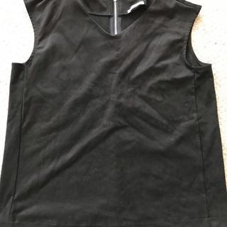 ジーユー(GU)のGU スエード調ノースリーブブラウス(シャツ/ブラウス(半袖/袖なし))