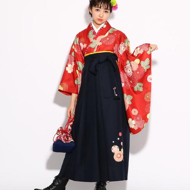 ピンクラテ袴 キッズ/ベビー/マタニティのキッズ服 女の子用(90cm~)(和服/着物)の商品写真