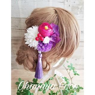 花yurari キュート姫の髪飾り クリップピンタイプ No507(ヘアアクセサリー)