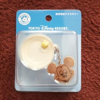 ミッキーマウス(ミッキーマウス)の携帯電話アクセサリー☆ミッキー フェイスのパンケーキ(ストラップ/イヤホンジャック)