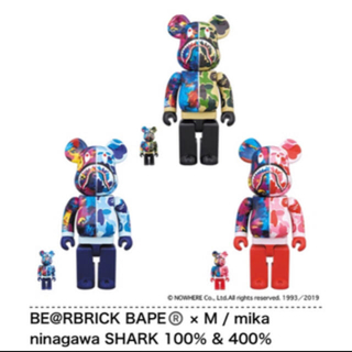 A BATHING APE - BE@RBRICK BAPE mika ninagawa SHARK