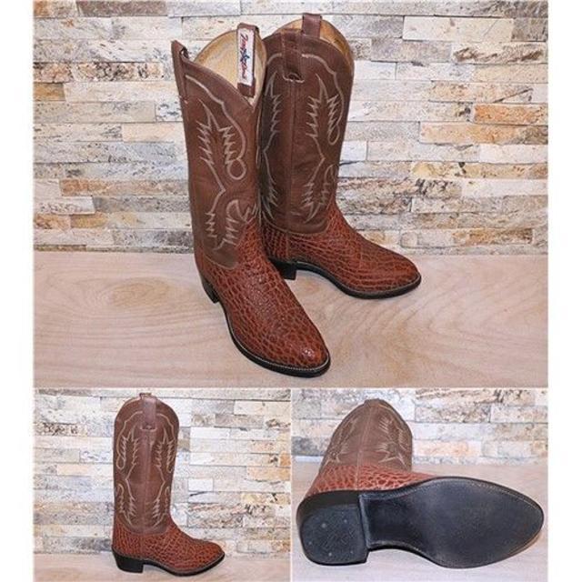 Tony Lama(トニーラマ)のトニーラマ TonyLama ブルハイド革 ウエスタンブーツ 茶 26,5cm メンズの靴/シューズ(ブーツ)の商品写真