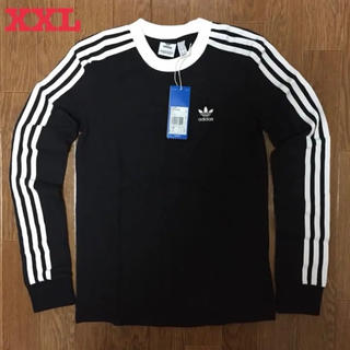 アディダス(adidas)のアディダス オリジナルス 3ストライプス 長袖 Tシャツ 黒 XXL 新品未使用(Tシャツ(長袖/七分))
