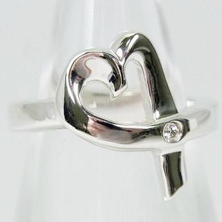 ティファニー(Tiffany & Co.)のティファニー 925 ラビングハート ダイヤリング5.5号[f458-4](リング(指輪))