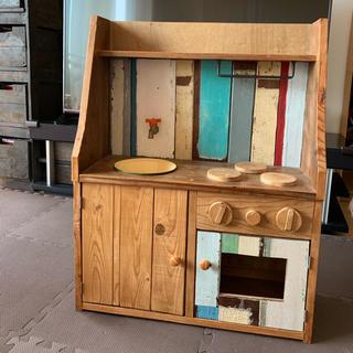 イケア(IKEA)の手作りキッズ用アンティークキッチンおもちゃ(知育玩具)