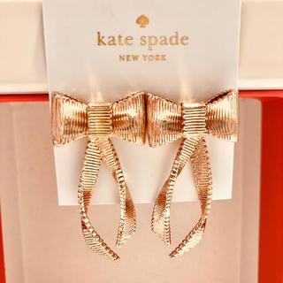 kate spade new york - ケイトスペード ピンクゴールド リボン りぼん ピアス ゴージャス パーティー