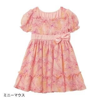ベルメゾン(ベルメゾン)のディズニー シフォン キッズ ワンピース ドレス 130(ワンピース)