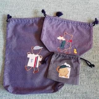 ファミリア(familiar)のファミリアデニムシリーズ巾着(ランチボックス巾着)