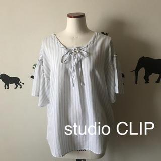スタディオクリップ(STUDIO CLIP)のstudio CLIP 麻レーヨン 柔らか ゆったり袖フレアブラウス(シャツ/ブラウス(半袖/袖なし))