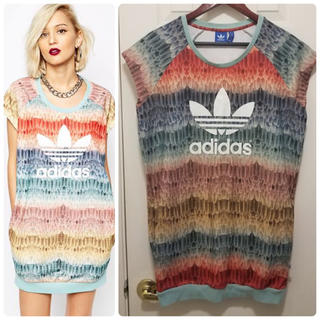 adidas - adidas × farm FEATHER DRESS 総柄 ワンピース L