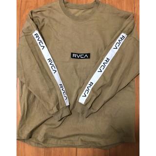 RVCA - RVCA ベージュトレーナー テープロゴ 完売品