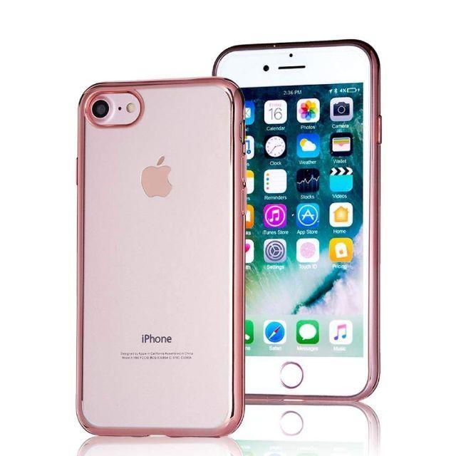 iPhone8/7用 TPUケース ローズゴールドの通販 by TKストアー |ラクマ
