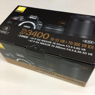 Nikon - 【新品未使用】Nikon D3400 ダブルズームキット SDカード 液晶保護付